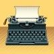 Vintage Mechanic Typewriter Pop Art Style