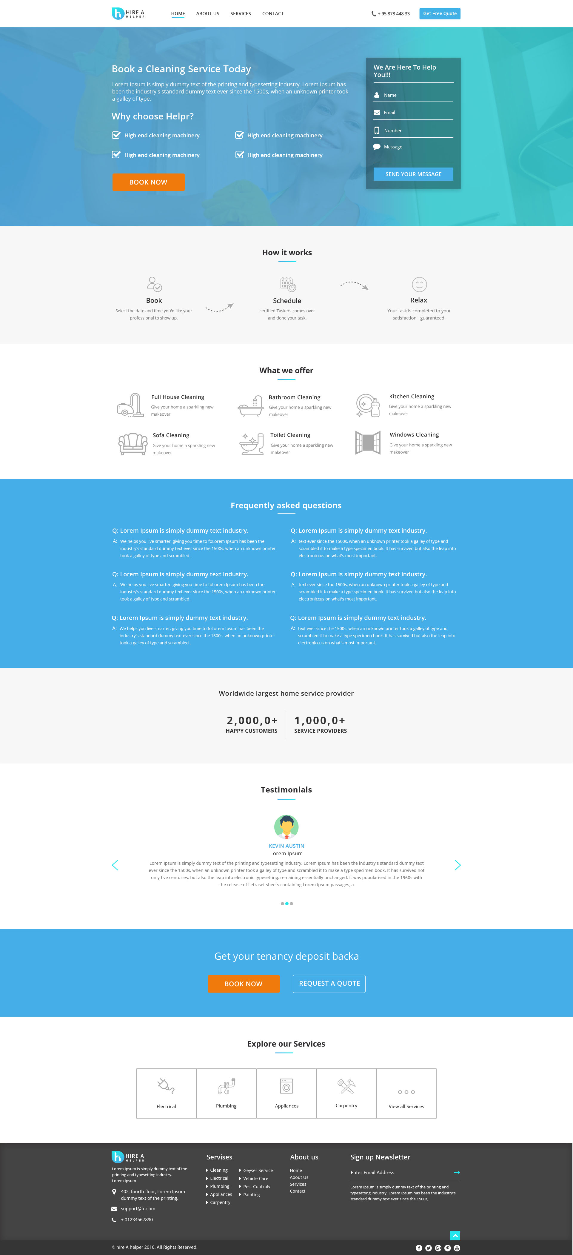 Hire a Helper - Home Multi Services Provider HTML Template by ...
