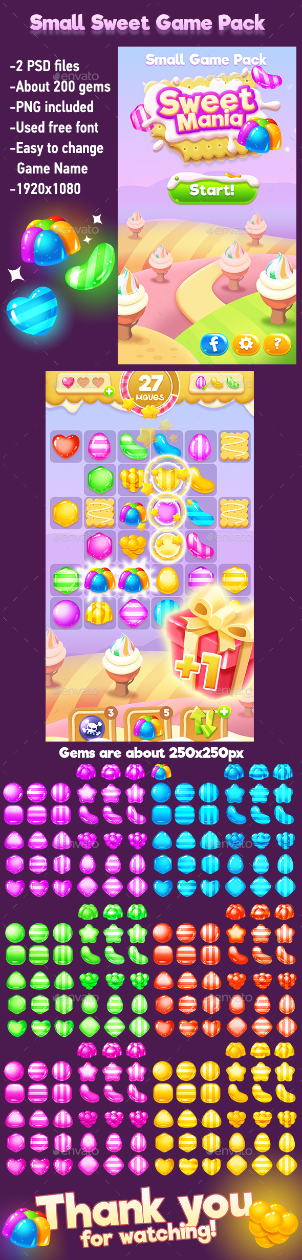 GraphicRiver Small Sweets Game Pack with Game Gems 20601434