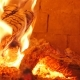 Burning Firewood in the Fireplace , Glowing Logs, Fire and Flames - VideoHive Item for Sale