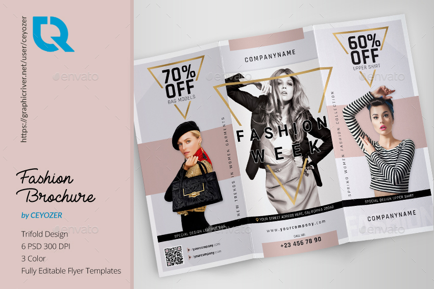 fashion trifold brochure by ceyozer