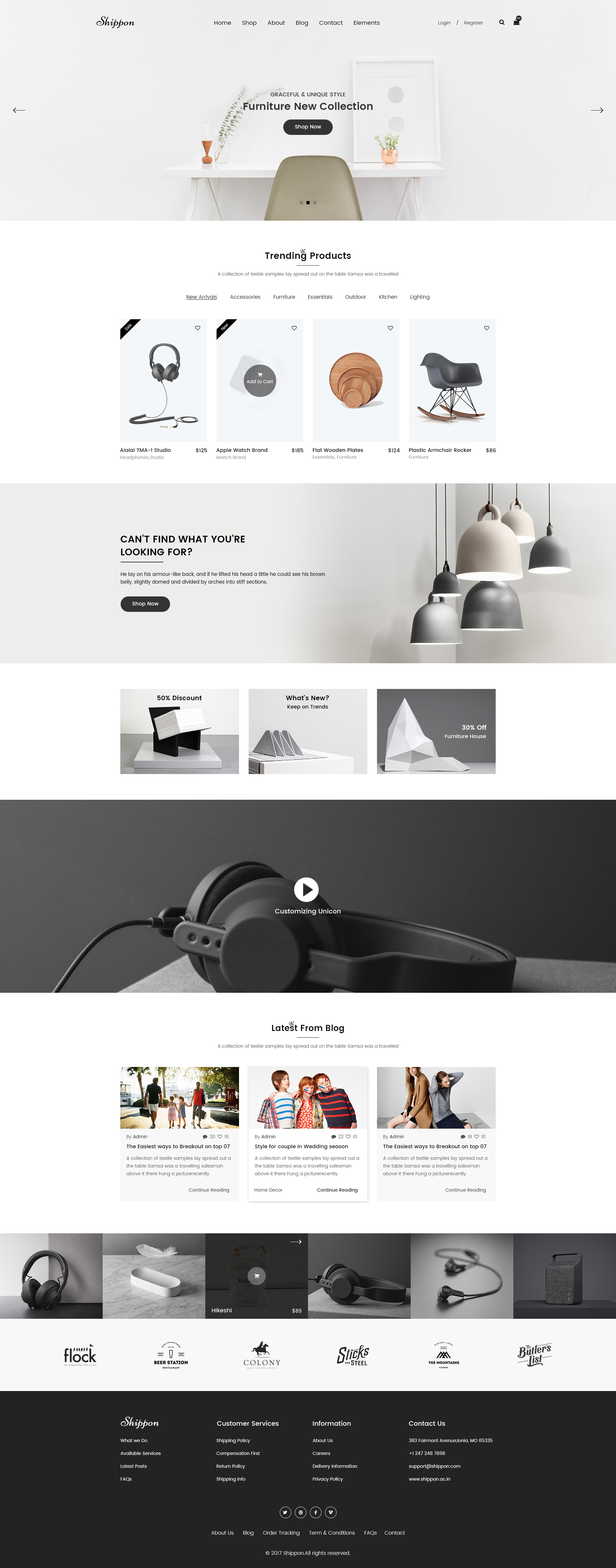Shippon | Minimalist eCommerce PSD Template by DigitalCarving ...