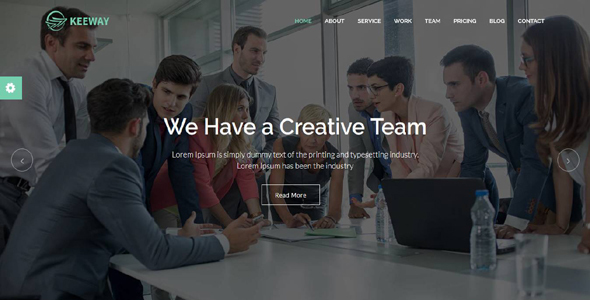 ThemeForest Keeway Material Design Agency Template 20485529