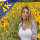 Portrait of a Beautiful Blond Girl in Sunflowers - VideoHive Item for Sale