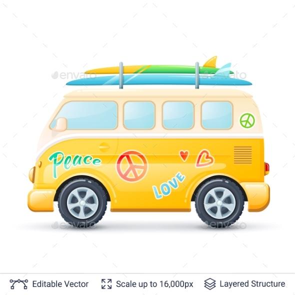 Classic Bus - Miscellaneous Vectors