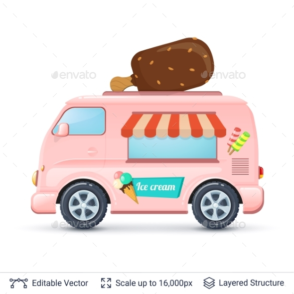 Ice Cream Van - Food Objects
