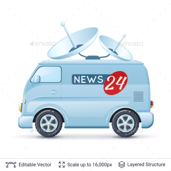News Reporter Van - Media Technology