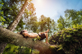 Young man lying and relaxing in the forest. - PhotoDune Item for Sale