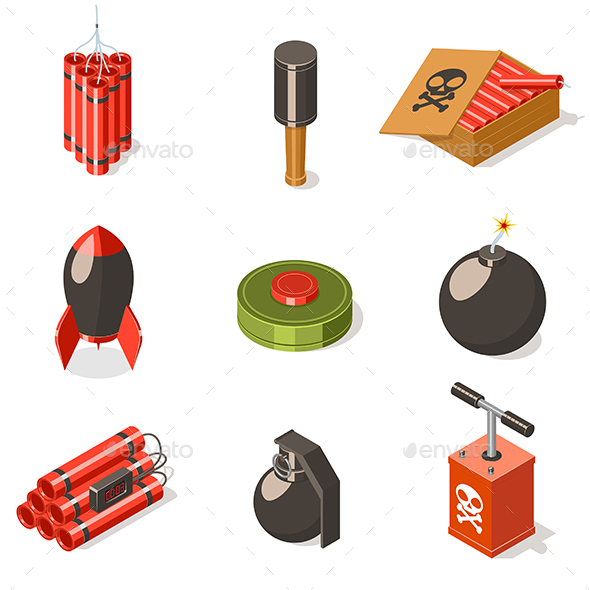 GraphicRiver Explosive Weapon Set 20602178