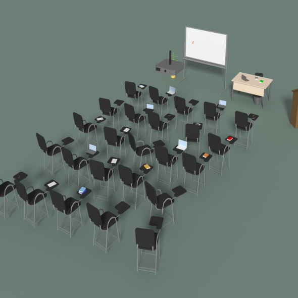 3DOcean Low Poly Office Conference Hall 20602206