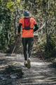 Elderly athlete man running