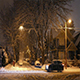 Suburbs With Passing Cars In Blizzard - VideoHive Item for Sale