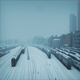 City Train Yard In Blizzard - VideoHive Item for Sale