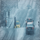 People Crossing Busy Road In Snowstorm - VideoHive Item for Sale