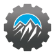 Mountain Peak Gear Logo - GraphicRiver Item for Sale