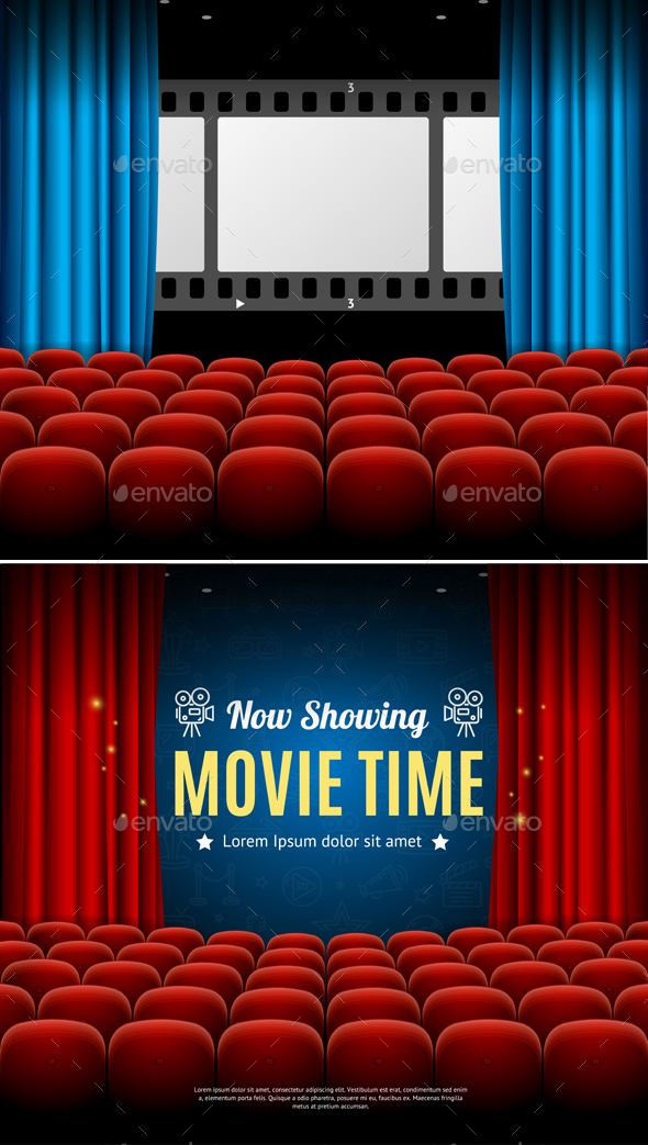 GraphicRiver Cinema Movie Time Background Card 20602709