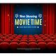 Cinema Movie Time Background Card