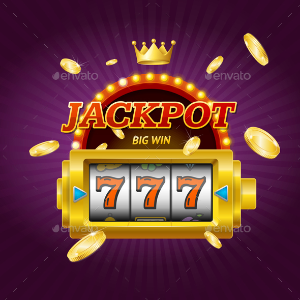 Casino Gambling Game Jackpot Concept Card - Miscellaneous Vectors