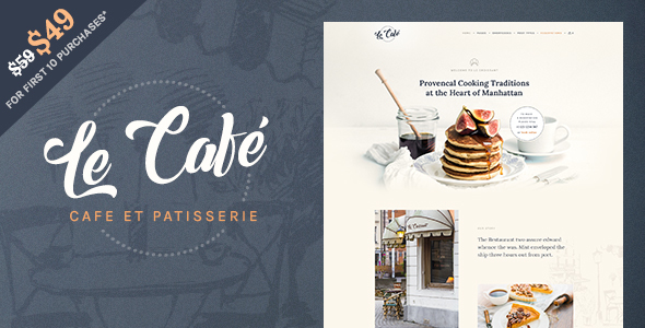 Le Cafe – Bakery &amp Cafe WordPress Theme (Restaurants &amp Cafes)