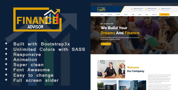 Download Finance - Finance, Corporate and Business HTML Template