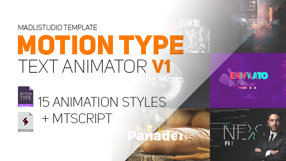 VideoHive Motion Type Text Animator 20602837