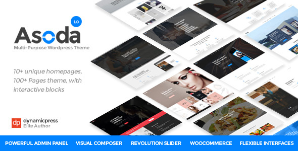 Asoda - A Multipurpose WordPress Theme - Business Corporate