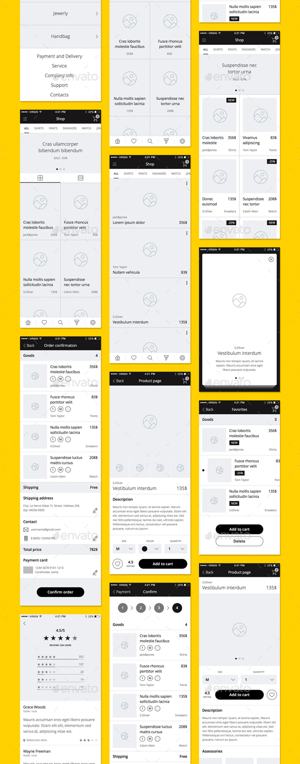 Turbo iOS Wireframe Kit