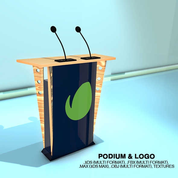 Podium & Logo - 3DOcean Item for Sale
