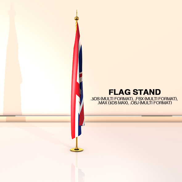 Flag Stand - 3DOcean Item for Sale