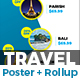 Holiday | Tour | Travel Poster & Roll-Up Templates