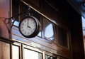 vintage clock on a wooden wall