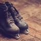 pair of old black dusty ice skates - PhotoDune Item for Sale