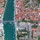 Aerial View of Omis Resort and Cetina River, Dalmatian Coast, Croatia - VideoHive Item for Sale