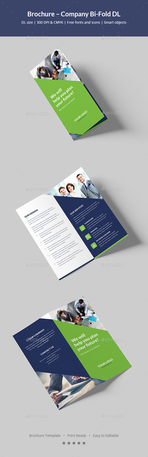 Brochure – Company Bi-Fold DL - Corporate Brochures