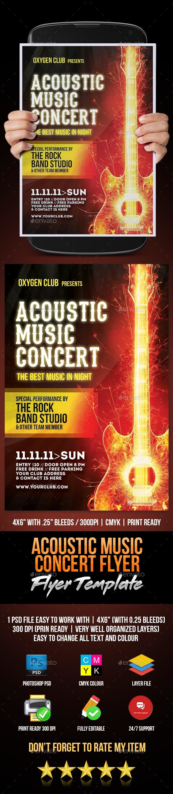GraphicRiver Acoustic Music Concert Flyer 20604029