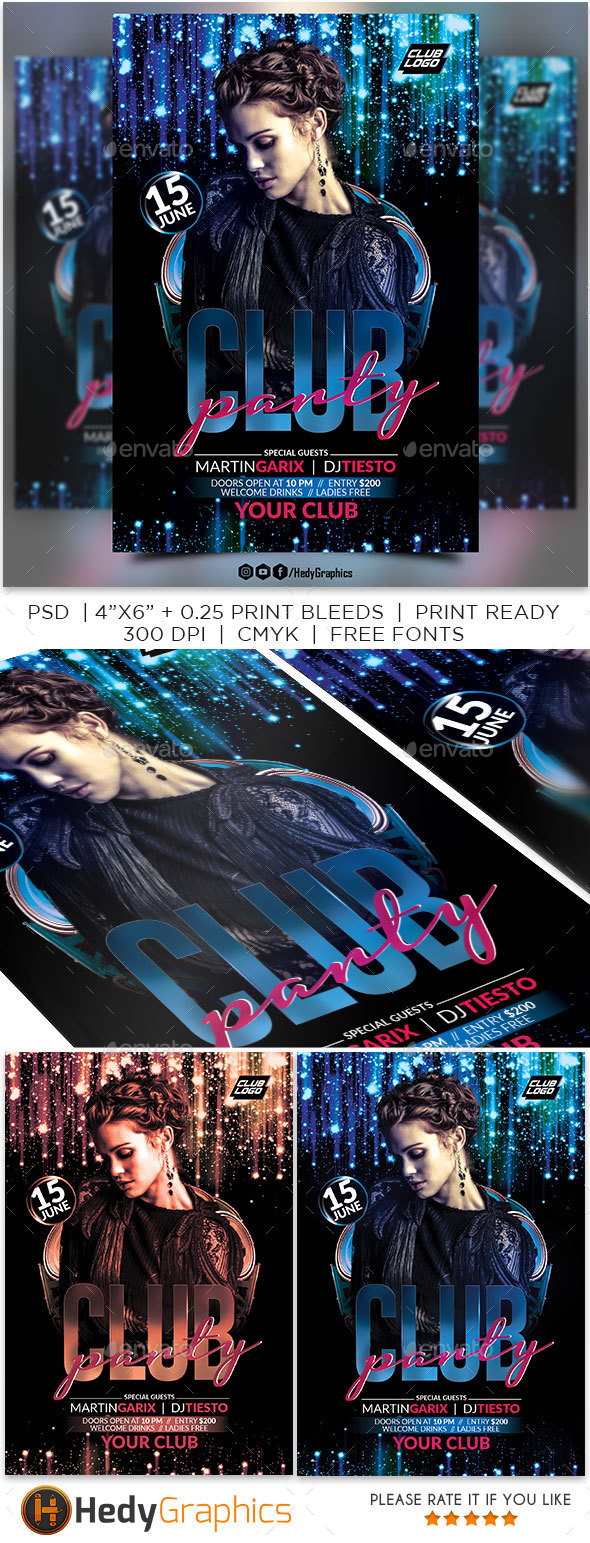 Club Flyer - Clubs & Parties Events