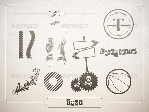 Diverse set of design elements for decoration - Miscellaneous Vectors