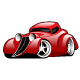 Red Hot Rod Custom Coupe Illustration - GraphicRiver Item for Sale