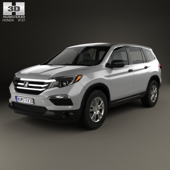 honda pilot lx 2016 by humster3d 3docean. Black Bedroom Furniture Sets. Home Design Ideas