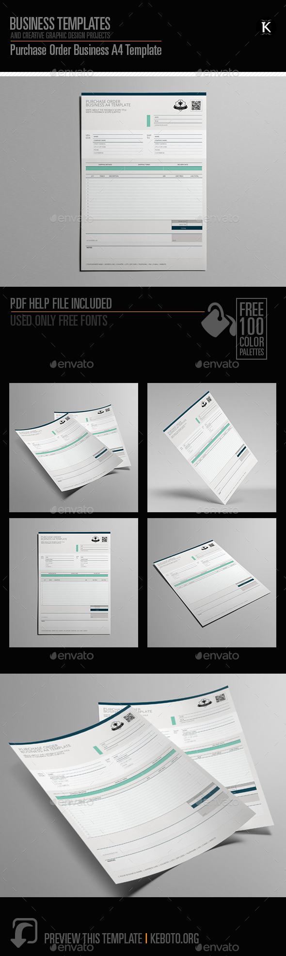 GraphicRiver Purchase Order Business A4 Template 20604700