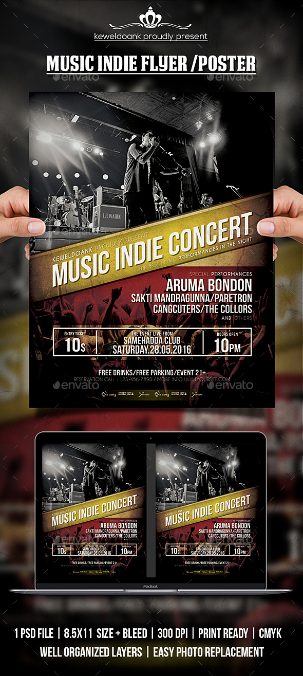 GraphicRiver Music Indie Flyer Poster 20604740