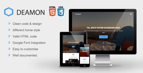 Deamon | The Multi-Purpose Onepage Template - Business Corporate