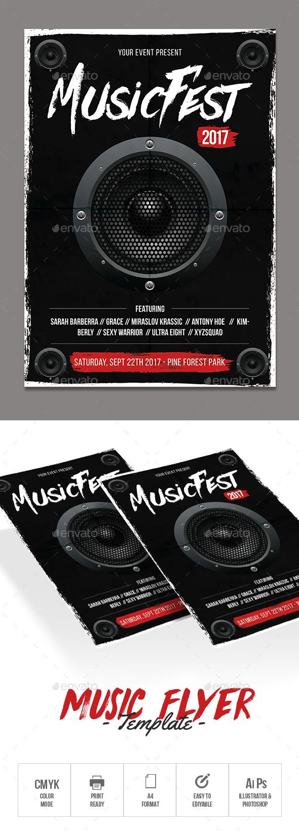 GraphicRiver Music Flyer 20604767