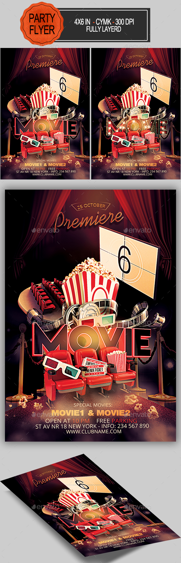 Premiere Movie Flyer - Miscellaneous Events