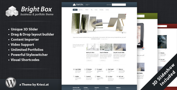 BrightBox – Business & Portfolio WordPress Theme
