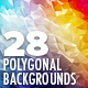28 Triangle Polygonal Backgrounds - GraphicRiver Item for Sale
