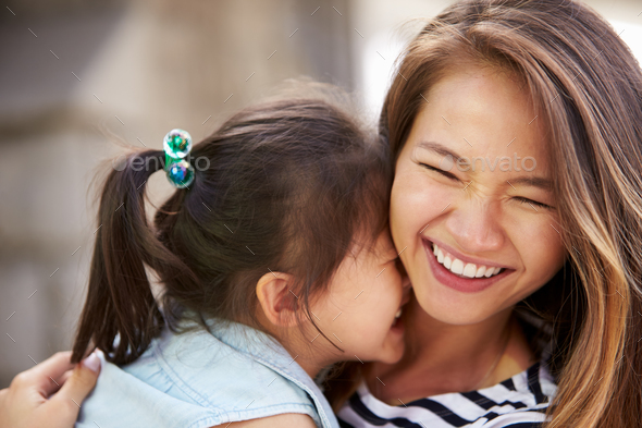 Outdoor Portrait Of Loving Mother And Daughter - Stock Photo - Images