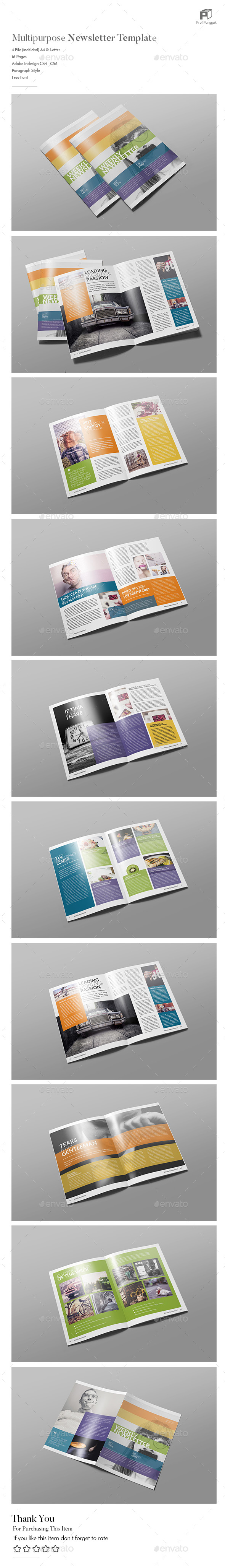 Modern Colorful Newsletter Vol. 4 - Newsletters Print Templates