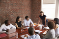 Young Businesswoman Addressing Boardroom Meeting - PhotoDune Item for Sale