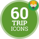 Travel Trip Vacation Animation - Flat Icons and Elements
